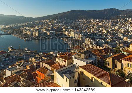 Amazing Panorama to Kavala, East Macedonia and Thrace, Greece