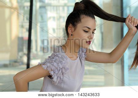 Girl Running Down The Street.