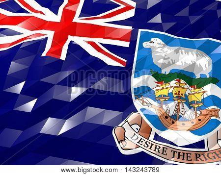 Flag Of Falkland Islands 3D Wallpaper Illustration