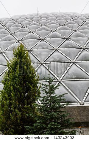 Geodesic dome over Butterfly pavilion in Vancouver