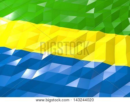 Flag Of Gabon 3D Wallpaper Illustration