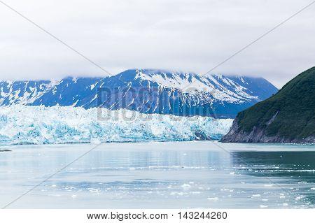 A Mist Over Hubbard Glacier in Alaska