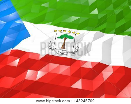Flag Of Equatorial Guinea 3D Wallpaper Illustration