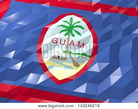 Flag Of Guam 3D Wallpaper Illustration
