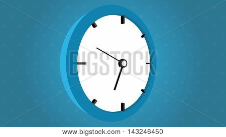 Clock face perspective arrows on blue background