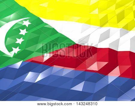 Flag Of Comoros 3D Wallpaper Illustration