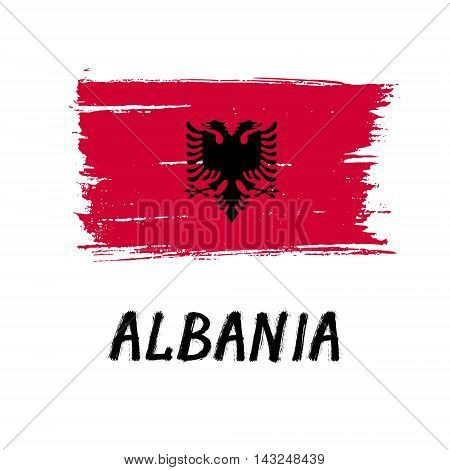 Flag Of Albania  - Color Grunge Icon