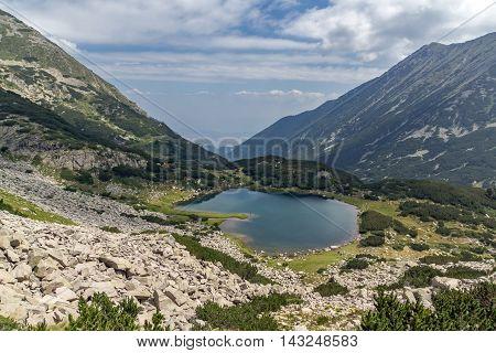Amazing Panorama of Muratovo lake, Pirin Mountain, Bulgaria