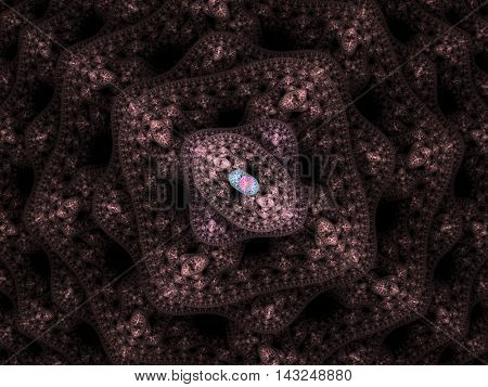 Microbes isolated on black background, 3D illustration