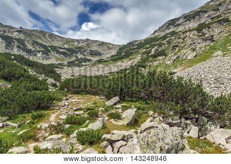 Amazing Panorama around Banderitsa pass, Pirin Mountain, Bulgaria