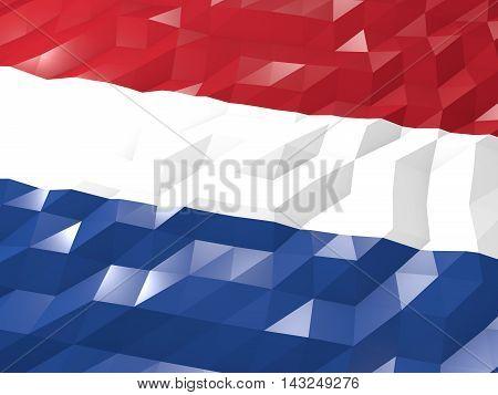 Flag Of Netherlands 3D Wallpaper Illustration