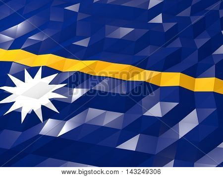 Flag Of Nauru 3D Wallpaper Illustration