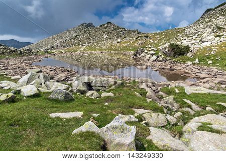 Amazing view of Upper Spanopolsko lake, Pirin Mountain, Bulgaria