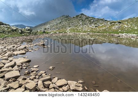Amazing panorama around Upper Spanopolsko lake, Pirin Mountain, Bulgaria