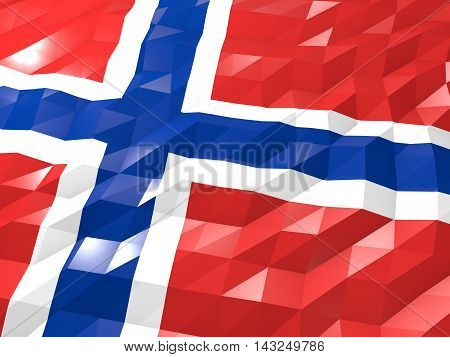 Flag Of Svalbard And Jan Mayen 3D Wallpaper Illustration
