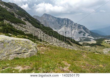 Amazing view of Sinanitsa peak from Sinanishka pass,  Pirin Mountain, Bulgaria