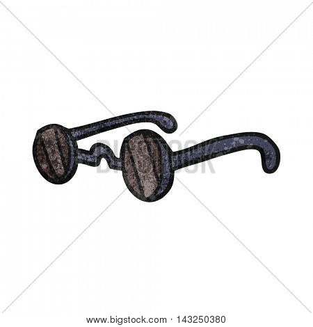 freehand drawn texture cartoon sunglasses