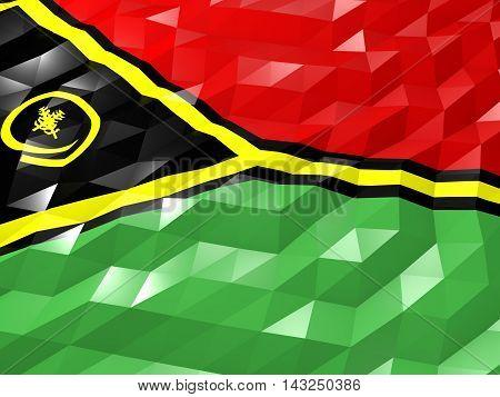 Flag Of Vanuatu 3D Wallpaper Illustration