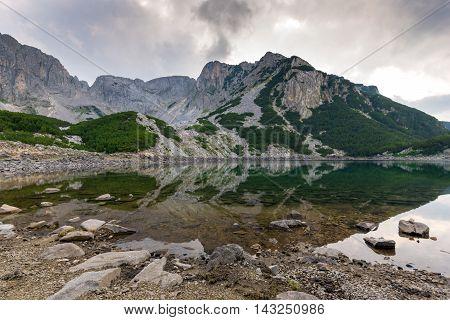 Amazing panorama of  Sinanitsa Peak and lake, Pirin Mountain, Bulgaria