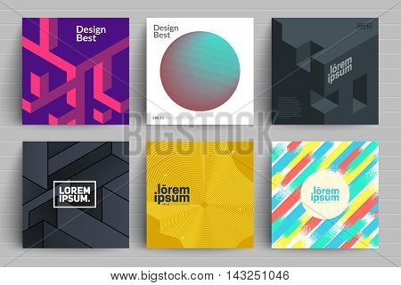 Set of backgrounds with trendy design. Applicable for Covers, Placards, Posters, Flyers and Banner Designs.