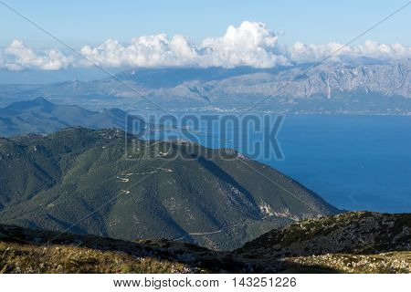 Amazing Panoramic view of Mountain of Lefkada, Ionian Islands, Greece