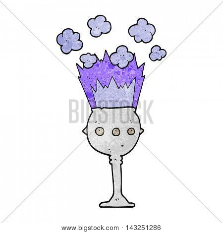 freehand drawn texture cartoon magic goblet