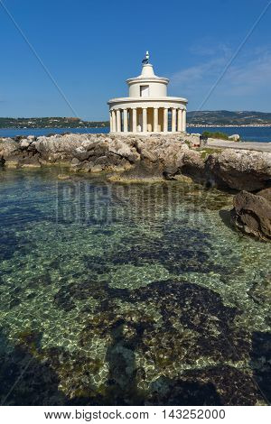 Amazing Seascape of Lighthouse of St. Theodore at Argostoli,Kefalonia, Ionian islands, Greece