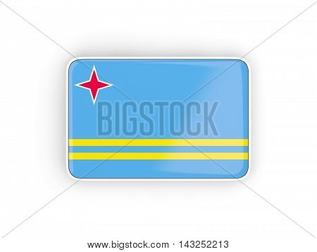 Flag Of Aruba, Rectangular Icon
