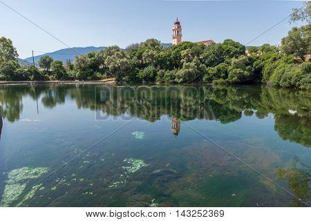 Amazing view of karavomilos lake, Kefalonia, Ionian islands, Greece