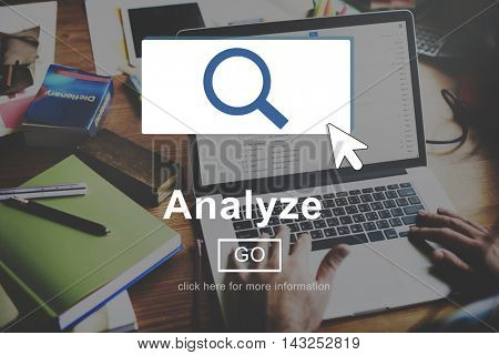 Analyze Information Insight Connect Data Website Concept