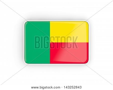 Flag Of Benin, Rectangular Icon