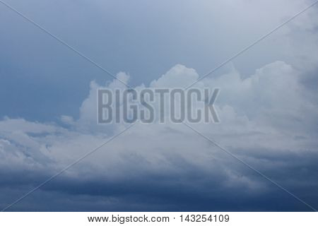 Dark blue sky and Cloud  beautiful nature : you may be used as background :
