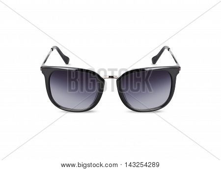 Black sunglasses for women. Isolated on white background. With clipping path.