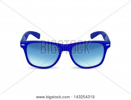 Blue sunglasses isolated over the white background. With clipping path