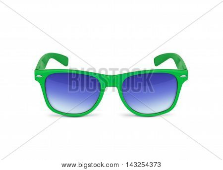 Green sunglasses isolated over the white background. With clipping path