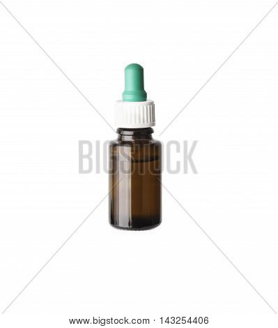 Nasal spray container isolated on white background. With clipping path
