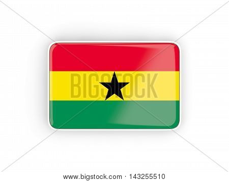 Flag Of Ghana, Rectangular Icon