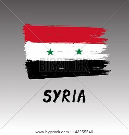 Flag Of Syria  - Color Grunge Icon