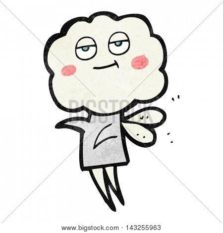 freehand drawn texture cartoon cute cloud head imp