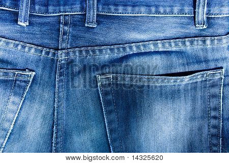 Close-up Of Jeans Pockets