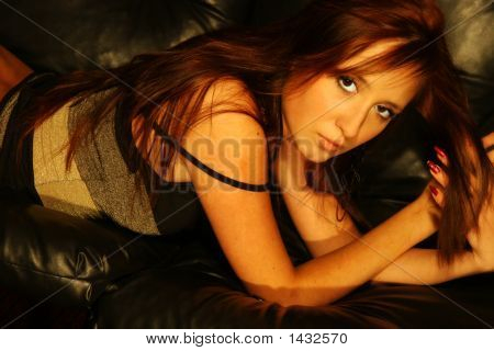 Girl On Sofa