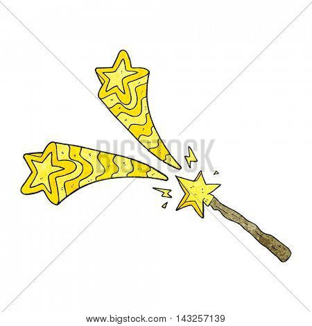 freehand drawn texture cartoon magic wand