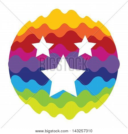 Favourites Rainbow Color Icon for Mobile Applications and Web Vector Illustration EPS10