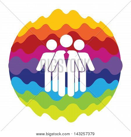 Social Network Rainbow Color Icon for Mobile Applications and Web Vector Illustration EPS10