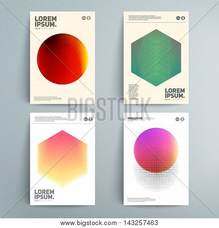 Covers deisgn with asbtract circle elements. Eps10 Vector template.
