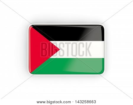 Flag Of Palestinian Territory, Rectangular Icon