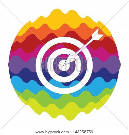 Target Rainbow Color Icon for Mobile Applications and Web EPS10