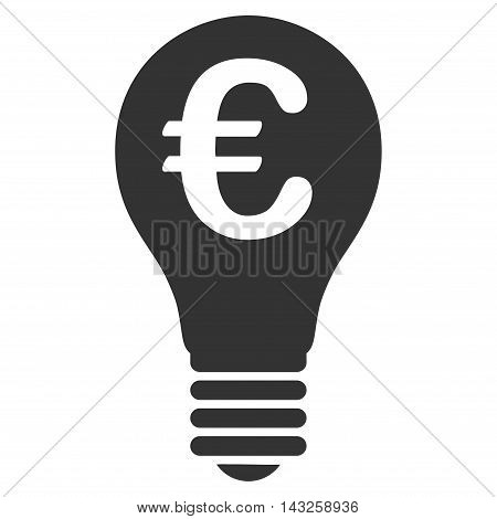 Euro Patent icon. Glyph style is flat iconic symbol with rounded angles, gray color, white background.
