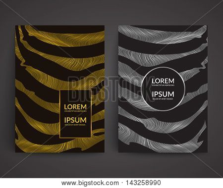 Silver and gold covers design. Eps10 vector templates for banner,flyer,menu,poster,cover etc.