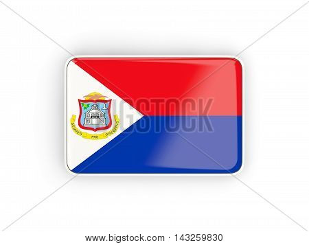 Flag Of Sint Maarten, Rectangular Icon